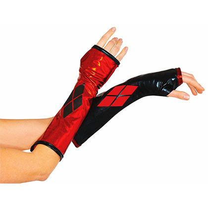 HARLEY QUINN Arm Gauntlet Gloves Costume Accessory