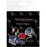 The Vampire Diaries Badge Pack - Stefan & Damon