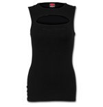 Urban Fashion - Laser Cut Sleeveless Top