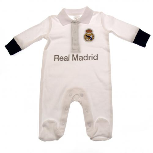 Real Madrid F.C. Sleepsuit 6/9 mths PL