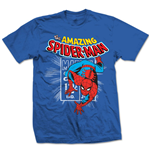 Marvel Comics T-Shirt Spidey Stamp blue