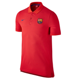 2016-2017 Barcelona Nike Authentic Polo Shirt (Crimson)