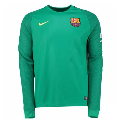more photos 27aa6 9991a 2016-2017 Barcelona Away Nike Goalkeeper Shirt (Green) - Kids
