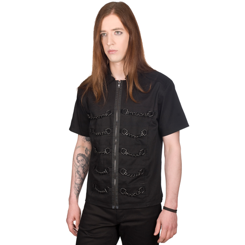 Black Pistol Chain Shirt Denim
