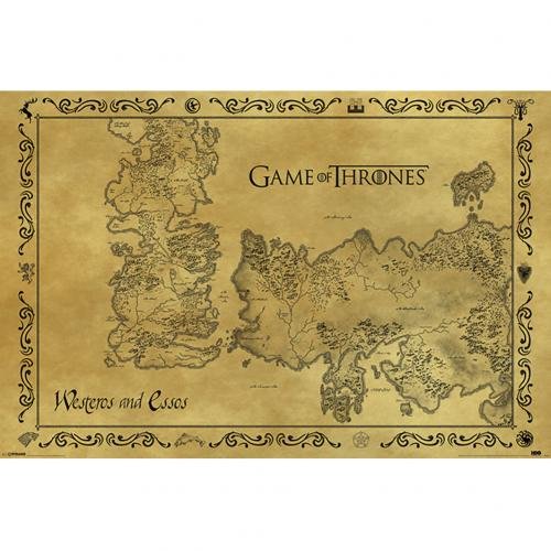 Game Of Thrones Poster Antique Map 211