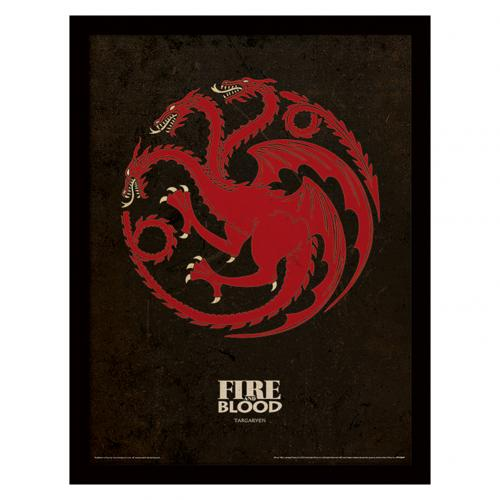 Game Of Thrones Framed Print Targaryen 16 x 12