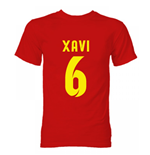 Barcelona Xavi Hero T-Shirt (Red)