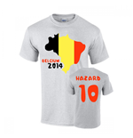 Belgium 2014 Country Flag T-shirt (hazard 10)