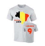 Belgium 2014 Country Flag T-shirt (lukaku 9)