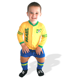 Brazil Football Baby Suit