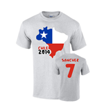 Chile 2014 Country Flag T-shirt (sanchez 7)