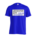 City of Champions - Leicester Street T-Shirt (Blue) - Kids