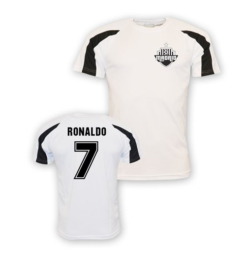 reputable site b823c 3623f Cristiano Ronaldo Real Madrid Sports Training Jersey (white) - Kids