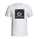 Cristiano Ronaldo Real Madrid Periodic Table T-shirt (white) - Kids