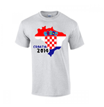 Croatia 2014 Country Flag T-shirt (grey)