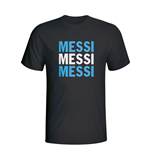 Lionel Messi Argentina Player Flag T-shirt (black) - Kids
