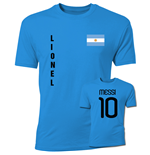 Lionel Messi Argentina Flag T-Shirt (Blue)