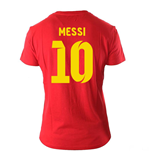 Lionel Messi Visca El Barca Hero T-Shirt (Red)