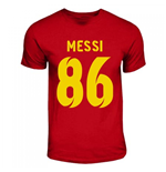 Lionel Messi World Record Holder T-Shirt (Red)