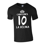 Real Madrid La Decima T-Shirt (Black)