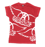 Aerosmith T-shirt Red All Over Logo
