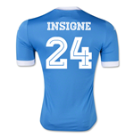 2015-2016 Napoli Replica Home Shirt (Insigne 24)