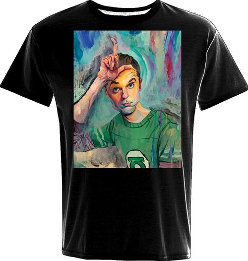 Big Bang Theory T-shirt Sheldon Art Loser