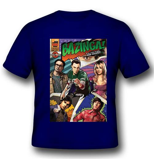 Big Bang Theory T-shirt Comic Book Cover