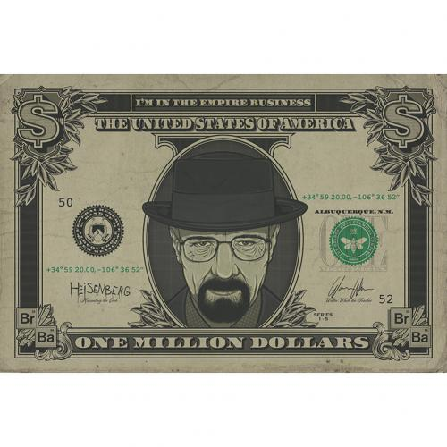Breaking Bad Poster Heisenberg Dollar 236