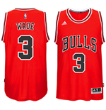 Men's Chicago Bulls Dwyane Wade adidas Red New Swingman Road Jersey