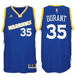 Men's Golden State Warriors Kevin Durant adidas Crossover Royal Swingman Alternate Jersey