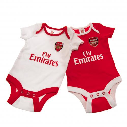 Arsenal F.C. 2 Pack Bodysuit 3/6 mths CP