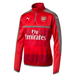 2016-2017 Arsenal Puma Half Zip Training Top (Red)