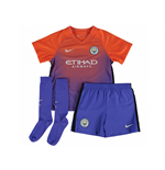 2016-2017 Man City Third Nike Little Boys Mini Kit