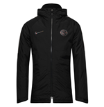 2016-2017 PSG Nike Hooded Stadium Jacket (Black)