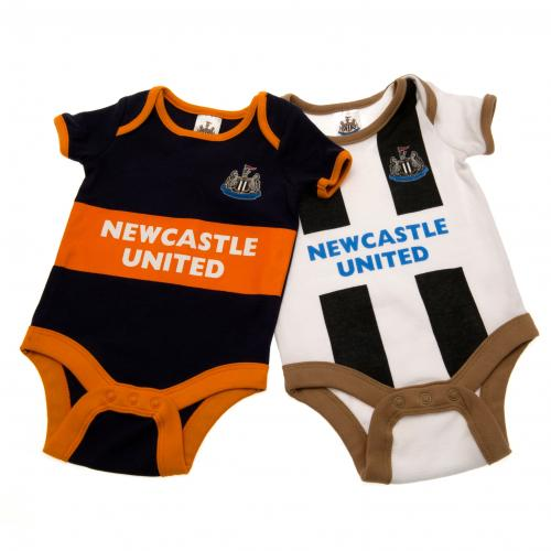 Newcastle United F.C. 2 Pack Bodysuit 9/12 mths