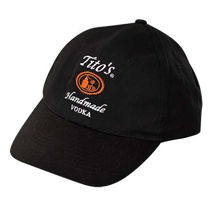 TITO'S VODKA Black 5 Panel Hat