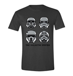 STAR WARS Men's Rogue One The Galactic Empire T-Shirt, Extra Extra Large, Anthracite