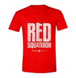 STAR WARS Men's Rogue One Red Squadron T-Shirt, Large, Red
