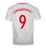 2016-17 Poland Home Shirt (Lewandowski 9)