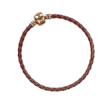 Fantastic Beasts Slider Charm Leather Bracelet brown