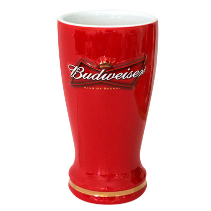 BUDWEISER Ceramic Sculpted Pilsner Glass