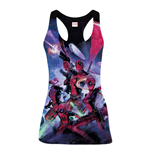 MARVEL COMICS Women's Deadpool Family Sublimation Tanktop, Extra Large, Multi-Colour