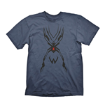 OVERWATCH Men's Widowmaker Tattoo T-Shirt, Extra Large, Navy Blue