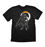 OVERWATCH Men's Reaper & Logo T-Shirt, Large, Black
