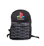 Playstation - Classic Logo With Controller Patern Reversible Black Backpack