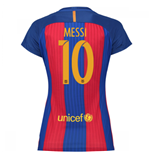 2016-17 Barcelona with Sponsor Womens Home Shirt (Messi 10)