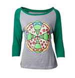 Ninja Turtles - Turtles and Pizza Raglan T-shirt
