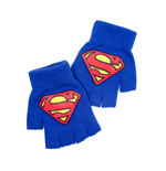 Superman - Blue Fingerless Gloves With Logo