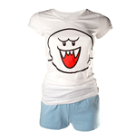 Nintendo - Shortama. White/Blue. Boo. Girl's